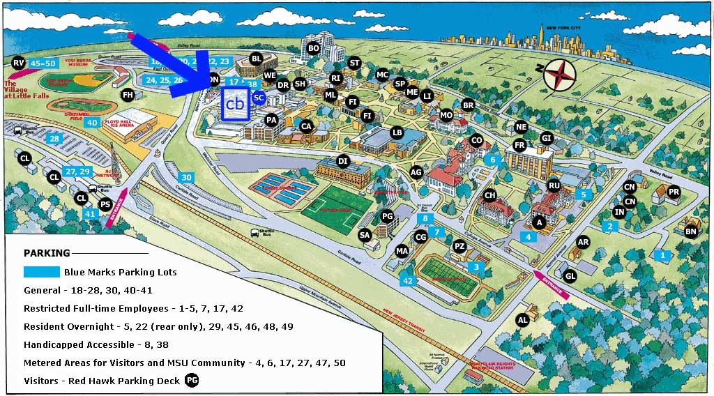 Montclair State University Campus Map Montclair State University: Virtual Tour